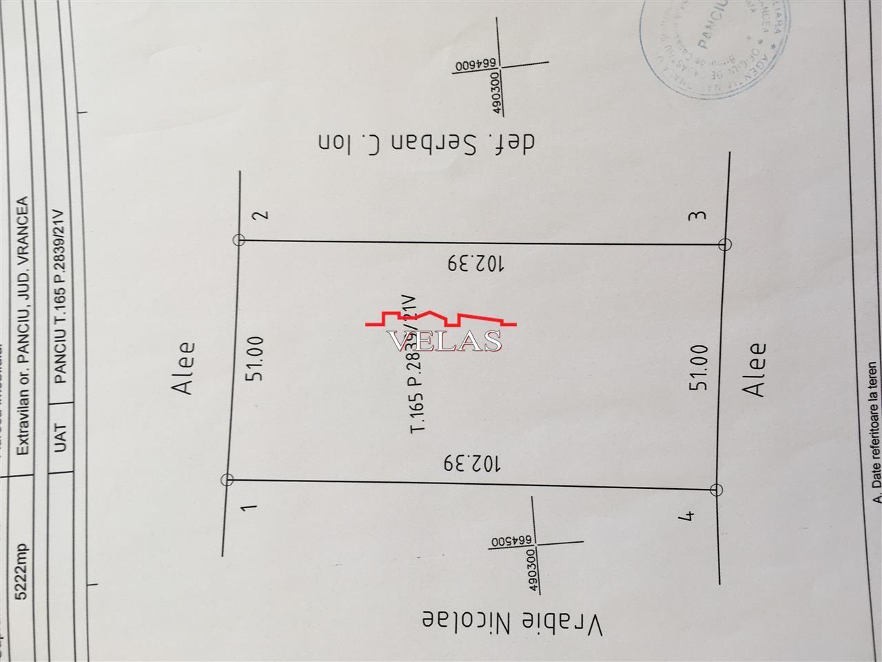 Teren extravilan  5222 mp, Panciu, vie de defrisat